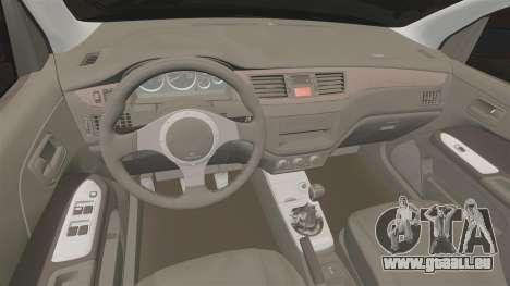 Mitsubitsi Lancer MR Evolution VIII 2004 Tuning für GTA 4 Innenansicht
