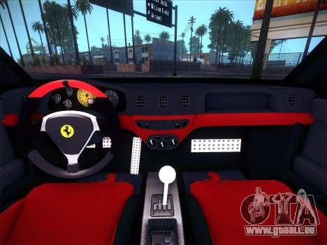 Ferrari 360 Challenge Stradale pour GTA San Andreas vue intérieure