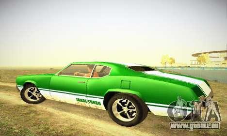 GTA IV Sabre Turbo für GTA San Andreas Rückansicht