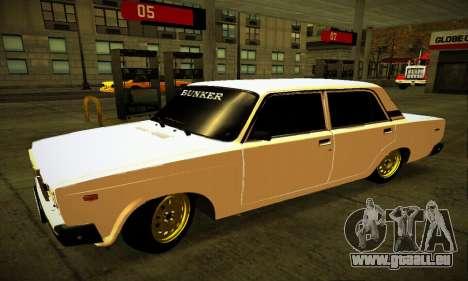 BUNKER VAZ 2107 pour GTA San Andreas laissé vue