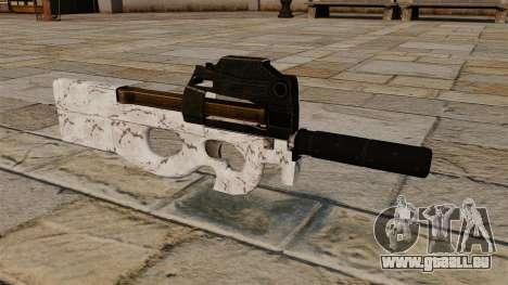 P90 Maschinenpistole Arktis Camo für GTA 4