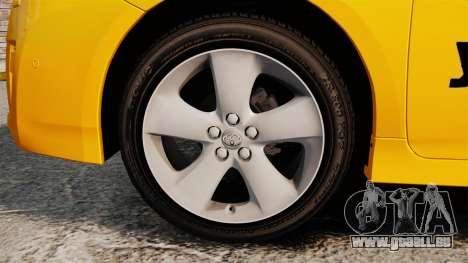 Toyota Prius 2011 Adelaide Yellow Taxi für GTA 4 Rückansicht