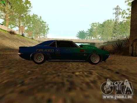 Chevrolet Camaro z28 Falken edition pour GTA San Andreas vue de droite