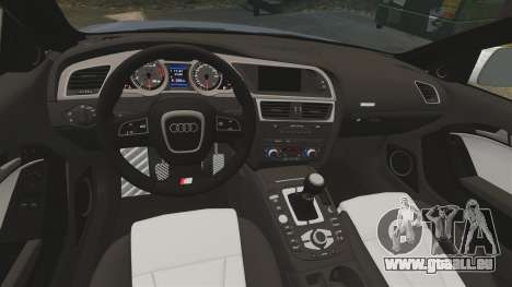 Audi S5 Convertible 2012 für GTA 4 Rückansicht