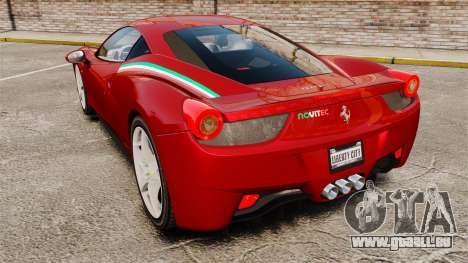 Ferrari 458 Italia 2010 Novitec pour GTA 4 Vue arrière de la gauche