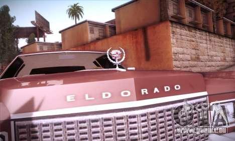 Cadillac Eldorado 1978 Coupe pour GTA San Andreas vue de dessus