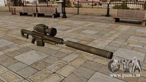 Barrett M82A1 fusil de sniper avec un silencieux pour GTA 4