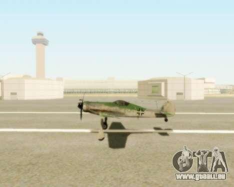 Focke-Wulf FW-190 D12 pour GTA San Andreas vue de droite