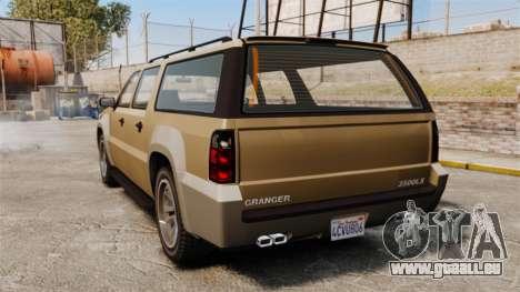 GTA V Declasse Granger 3500LX für GTA 4 hinten links Ansicht