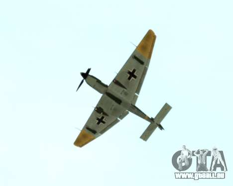 Junkers Ju-87 Stuka für GTA San Andreas Rückansicht