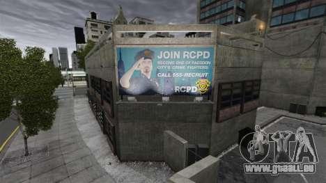 Poste de police, raton laveur pour GTA 4 troisième écran