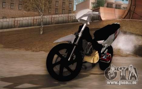 Suzuki 125 Vietnam für GTA San Andreas Rückansicht