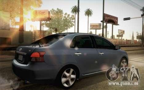 Toyota Vios 2008 pour GTA San Andreas laissé vue