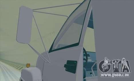 GMC C550 Topkick Trashmaster pour GTA San Andreas vue intérieure