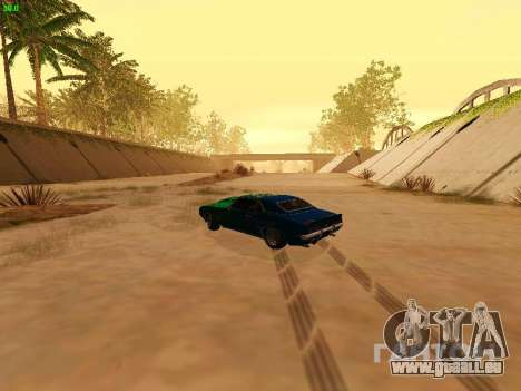 Chevrolet Camaro z28 Falken edition pour GTA San Andreas vue intérieure
