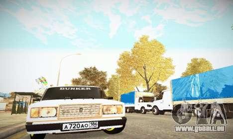 BUNKER VAZ 2107 pour GTA San Andreas vue de côté