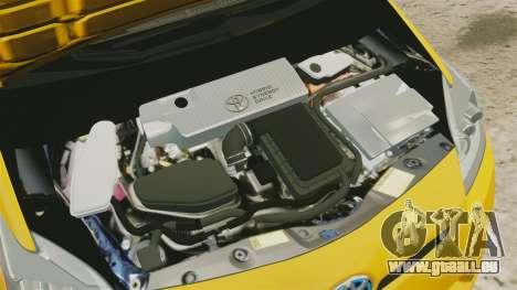 Toyota Prius 2011 Warsaw Taxi v2 pour GTA 4 est une vue de l'intérieur