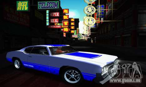 GTA IV Sabre Turbo für GTA San Andreas obere Ansicht
