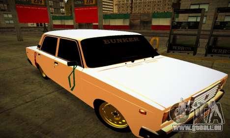 BUNKER VAZ 2107 pour GTA San Andreas vue arrière