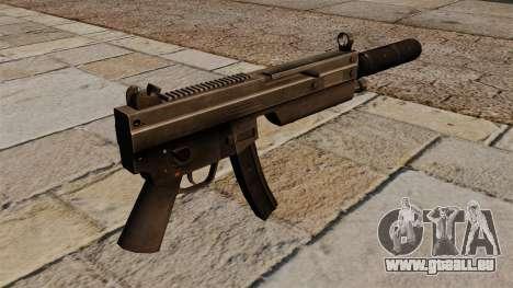 Le pistolet-mitrailleur MP5 avec silencieux pour GTA 4 secondes d'écran