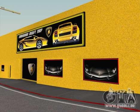 Lamborghini Dealer San Fierro pour GTA San Andreas sixième écran