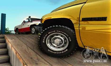 Dodge Ram 2500 pour GTA San Andreas vue de dessus
