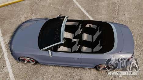 Audi S5 Convertible 2012 für GTA 4 rechte Ansicht