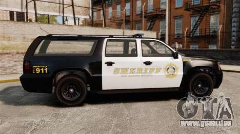 GTA V Declasse Granger Sheriff für GTA 4 linke Ansicht