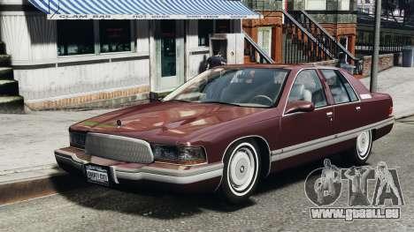Buick Roadmaster 1996 pour GTA 4 est une gauche