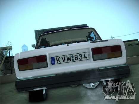 Lada 2107 Rendőrség pour GTA San Andreas vue de droite