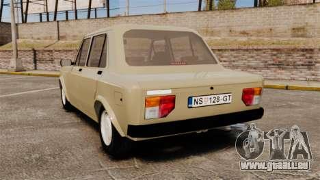 Zastava Yugo 128 für GTA 4 hinten links Ansicht