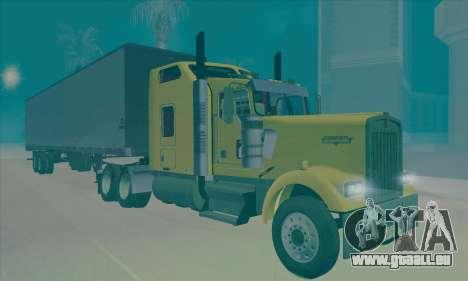 Kenworth W900L pour GTA San Andreas sur la vue arrière gauche