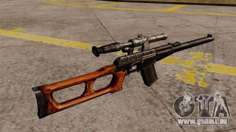 Fusil de sniper VSS Vintorez pour GTA 4 secondes d'écran