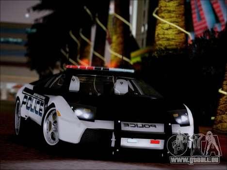 Lamborghini Murciélago Police 2005 pour GTA San Andreas vue de droite