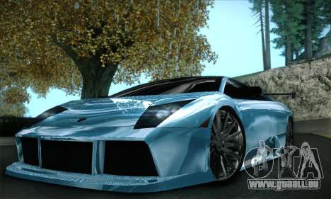 Lamborghini Murcielago GT Coloured für GTA San Andreas Unteransicht