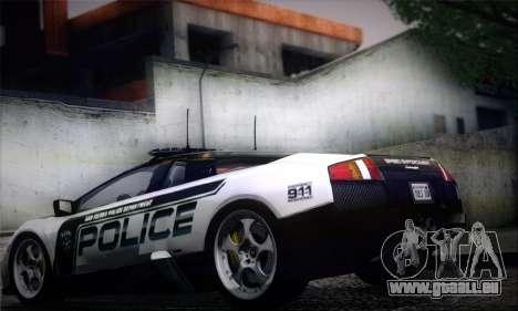 Lamborghini Murciélago Police 2005 pour GTA San Andreas laissé vue