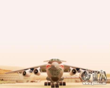 Ilyushin Il-76td pour GTA San Andreas sur la vue arrière gauche