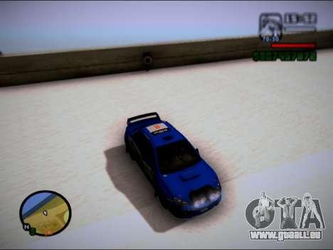 Subaru Impreza WRX STI WRC pour GTA San Andreas sur la vue arrière gauche