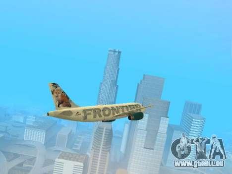 Airbus A319-111 Frontier Airlines Red Foxy für GTA San Andreas Seitenansicht
