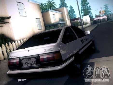 Toyota Trueno AE86 Initial D 4th Stage pour GTA San Andreas laissé vue