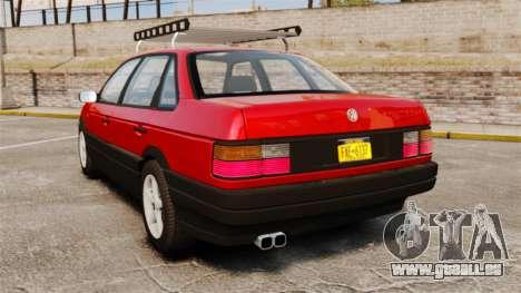 Volkswagen Passat B3 1995 pour GTA 4 Vue arrière de la gauche