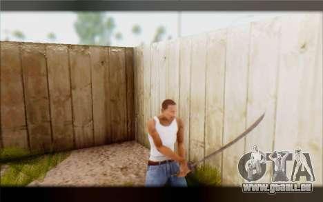 Lame ébonite pour GTA San Andreas troisième écran