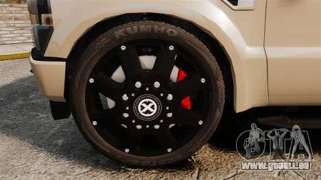 Ford F-350 Pitbull pour GTA 4 Vue arrière