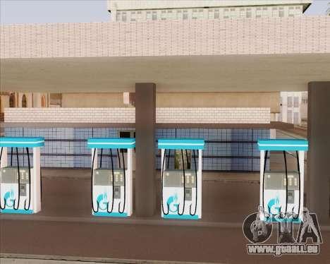 AZS Gazprom Neft pour GTA San Andreas troisième écran