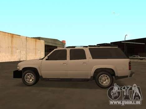 Chevrolet Suburban ATTF pour GTA San Andreas laissé vue