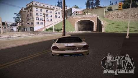 Dodge Viper SRT-10 Roadster für GTA San Andreas zurück linke Ansicht