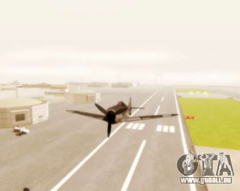 Focke-Wulf FW-190 A5 pour GTA San Andreas vue arrière