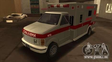Ambulance HD from GTA 3 pour GTA San Andreas