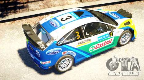 Ford Focus RS M Gronholm Rally Finland WRC pour GTA 4 est une vue de l'intérieur