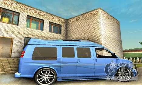 GMC Savana für GTA San Andreas obere Ansicht